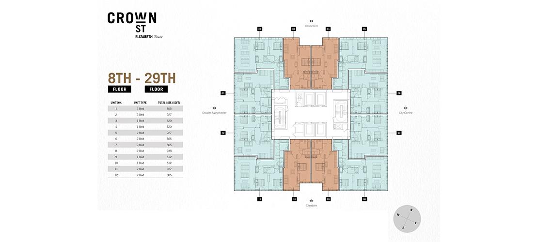 Elizabeth Tower Crown Street New Developments Landscope International Property Agency Limited