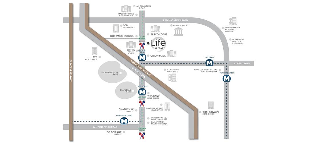 Life Ladprao New Developments Landscope International Property Agency Limited